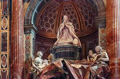 Pope Alexander the 7th's tomb in Saint Peter's basilica in Rome