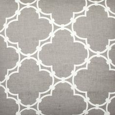 Quatrefoil Fabric in Grey Reverse from love this pattern Home Furnishing Stores, Home Furnishings, Textile Fabrics, Upholstery Fabrics, Linen Pillows, Grey Pillows, Couch Pillows, Seat Cushions, Fabulous Fabrics