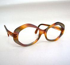 Vintage 50s octagon glasses sunglasses frames Pink by AustinModern, $35.00