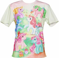Unisex My Little Pony Vintage Scene T Shirt My Little Pony Clothes, My Little Pony Pajamas, My Little Pony Merchandise, 80s Outfit, Novelty Gifts, White Tees, Vintage Tops, Cute Outfits, Unisex