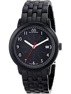 88 Rue du Rhone Unisex 87WA120025 Analog Display Swiss Quartz Black Watch ❤ 88 Rue du Rhone Swiss Made Watches, Rhone