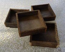 Wood box, wood tray, reclaimed wood, rustic wedding tabletop, organizer, shadow box, wooden box, wedding centerpiece