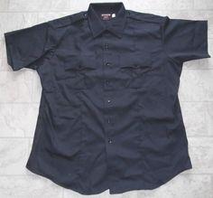 SOUTHEASTERN SHIRT CORP. Code 3 Police EMS Uniform Shirt Navy NWOT S/S Men's 18 #SoutheasternShirtCorp