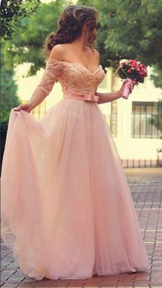 Beautiful. Wow!! https://www.bridebug.com/pin/cute-pink-half-sleeve-wedding-dress/ MOQ: 1Piece Hemline: Sweep Train Silhouette: A Line Fabric: Tulle Embellishment: Lace & Beadings Style: Charming Sleeve Length: Half Sleeve Neckline: Off Shoulder Feature: Custom Made Color: Pink Season: Summer Occasion: Wedding Party Waist: Natural Related catches