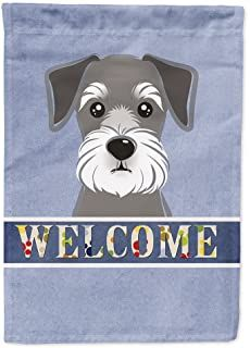 Caroline's Treasures Schnauzer Welcome by Denny Knight Graphic Art Plaque Size: Miniature Schnauzer Puppies, Schnauzer Puppy, Schnauzers, Most Popular Dog Breeds, Dog Pin, Cute Dogs, Awesome Dogs, Fur Babies, Cute Animals