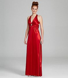 B Darlin Satin Cutout Gown #Dillards