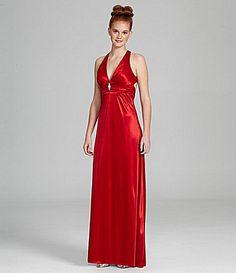 B Darlin Satin Cutout Gown #Dillards