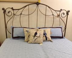 Headboard - King sz. Grey Iron Headboard w/ Frame - $399.95
