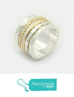 Wedding Band Mixed metals Spinner rings for women meditation Ring promise rings Anxiety silver ring vintage rings woman's Wedding ring from By Nature Jewellery https://www.amazon.com/dp/B01JLJQKOU/ref=hnd_sw_r_pi_dp_ycfsybM523BDG #handmadeatamazon