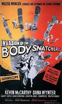 Tg film Saturday watching this classic, colour version. Fun. Film1956-InvasionOfTheBodySnatchers-OriginalPoster.jpg