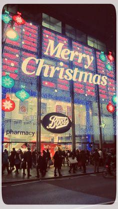 Christmas on Oxford Street  London, England