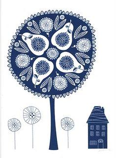 pear tree doodle illustration. nice. by Jill Labieniec