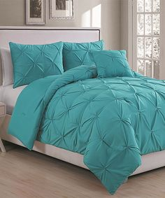 Look at this Teal Anabelle Comforter Set on #zulily today!