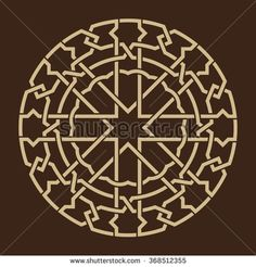 Geometric Ornament Traditional Islamic Design Mosque decoration element Ocher on brown background - bu stok vekt r esini Shutterstock zerinden sat n al n ve ba ka g rseller bulun Islamic Art Pattern, Pattern Art, Motifs Islamiques, Motif Tropical, Geometric Decor, Geometric Patterns, Islamic Art Calligraphy, Compass Tattoo, Diy Art