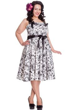Fashion Bug Plus Size: Dresses: Plus Size Vintage 1950s Black Long ...