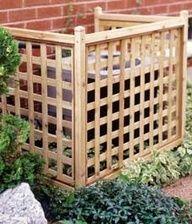 lattice screen cover...great way to hide wheelie bins in the garden