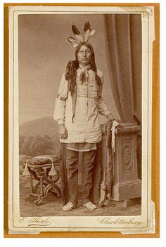 CDV of Sioux Indian from Buffalo Bill's Wild West Show. c. 1887.