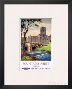 Fountains Abbey, Yorkshire, BR (NER), c.1956 Print at AllPosters.com