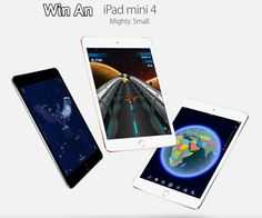Click here >>>https://gleam.io/DNsL3/ipad-4-mini<<< For your chance to win