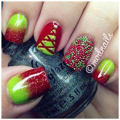 christmas time - Christmas Nail Art