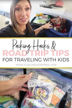 Road Trip Tips and Packing Hacks For Vacation With Kids! - Road tripping with kids isn't for the faint of heart. Especially when you've got 6 of 'em tha - Packing Tips For Vacation, Road Trip Packing, Road Trip Essentials, Road Trip Hacks, Packing Hacks, Vacation Trips, Travel Hacks, Travel Gadgets, Travel Tips