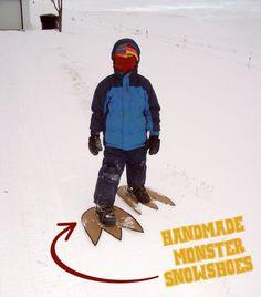 Snow Monster Feet. fun!!