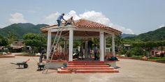 Rehabilitan quiosco de la plaza San Esteban