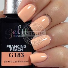 Gel II Prancing Peach - swatch by Chickettes.com
