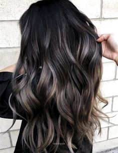 Marvelous gray to brown hair color on long wavy hair Hair 22 New Gorgeous Hair Color Trends For 2019 Gorgeous Hair Color, Hair Color For Black Hair, Brown Hair Colors, Red Hair, Ombre On Dark Hair, Long Hair Colors, Dark Ash Brown Hair, Winter Hair Colour, Brown To Red Ombre