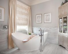 Time to relax. By McLain Homes St Jude Dream Home, Freestanding Tub Filler, Inspire Me Home Decor, Fancy Houses, Amazing Decor, Traditional Bathroom, Clawfoot Bathtub, Interior Design Inspiration, House Design