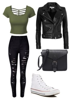 """Untitled #17"" by majd-mjalli ❤ liked on Polyvore featuring LE3NO, WithChic, Converse and IRO"