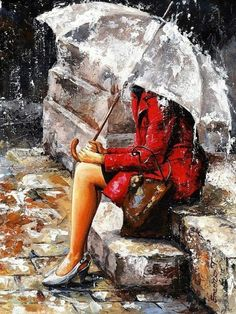 Home Beauty DIY oil painting by numbers umbrella lady wall canvas picture coloring paint by number brush drawing Rain Painting, Painting & Drawing, Figure Painting, Drawing Rain, Woman Painting, Rainy Day Drawing, Painting Canvas, New York Painting, Painting Trees