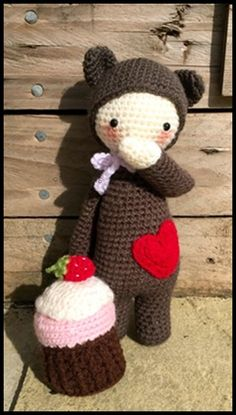 Handmade Crochet Mini Bina Bear - Lalylala ***Made To Order ...