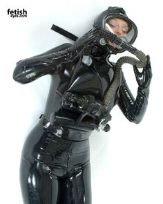 Rubber, Bondage, Fetish and Art Latex Babe, Scuba Girl, Heavy Rubber, Diving, Lady, Womens Fashion, Leather, Eyes, Diving Suit