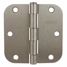 GlideRite Hardware brand interior residential steel full mortise door hinges. Size 3-1/2 in. x 3-1/2 in. with 5/8 in. radius corners. Please see image for radius sizes. Fully assembled hinges with matching installation screws.