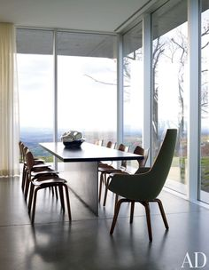 Contemporary Dining Room By Toshiko Mori Architect: Vintage Arne Jacobsen  Seating   A Set Of