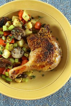 Roasted Maple and Mustard Duck Legs with Vegetables - Solid Gold Eats