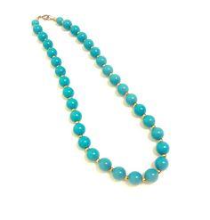 Turquoise / Aqua Blue Beaded Necklace