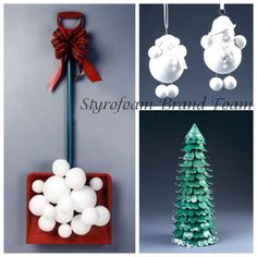 lots of fun Styrofoam projects for Christmas on this blog post