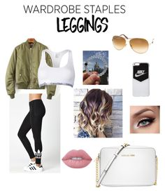 """Leggings!!"" by alyssachen888 on Polyvore featuring adidas, Calvin Klein, Michael Kors, Tom Ford, NIKE, Lime Crime, Leggings and WardrobeStaples"