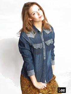 Lee Cooper Women's Long sleeve shirt Lexia Dark Brush