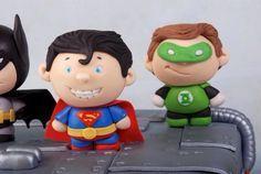 Fondant mini super heroes
