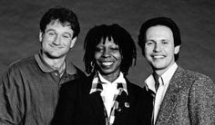 At a 1986 Comic Relief TV special alongside Whoopi Goldberg and Billy Crystal:  3 of the funniest people in show business