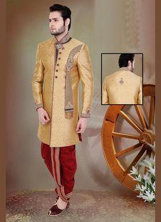Indian Ethnic Designer Dress Sherwani Bollywood Mens Wedding Readymade Indostyle