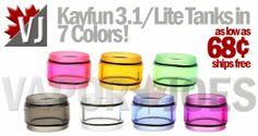 Colored Tanks for Kayfun 3.1 or Kayfun Lite
