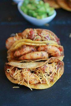 Authentic shrimp taco