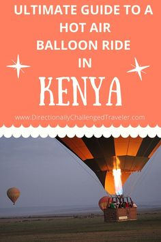 Planning a safari to Kenya? Learn all about why you should take a hot air balloon ride over the Masai Mara National Reserve! Kenya Travel, Africa Travel, Air Balloon Rides, Hot Air Balloon, I Love Reading, Travel Tips, Balloons, How To Plan, Learning