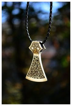 Viking Warrior Axe Norse Jewelry Mammen Style Huge by WearTheRare