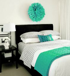 Beautiful Bedrooms  - simple & gorgeous. Easy to change the 'pop' of color!!