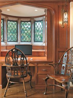 Tudor Revival Interiors wall color. .clients collection of sea glass was the inspiration